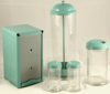 All Light Turquoise Diner Tabletop Decor