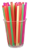 "Colorful Bar Straws 6"" x .2"" (bag of 500)"