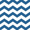 Chevron/Dots Beverage Napkin - Blue (pk of 16)