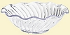 Plastic Scalloped Ice Cream Dish - 12 oz