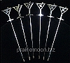 Art Deco Martini Picks - Stainless Steel (set of 6)