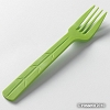 Biodegradable Fork - Green (24pcs)