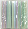 Giant Milkshake Straws 10 x .31 White Stripe