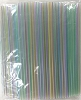 Drinking Straw 7.75 x .21 Clear Stripe
