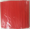 Jumbo Drinking Straws 7.75 x .25 Red