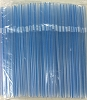 Long Flex Drinking Straw 8.25 x .23 Blue Stripe
