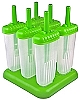 Groovy Freezer Pop Mold  Green