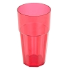 Red Paneled Soda Glass 20 oz