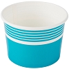 Blue Paper Frozen Yogurt / Ice Cream Dish 12 oz