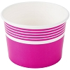 Pink Paper Frozen Yogurt / Ice Cream Cup 12 oz