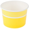 Yellow Paper Frozen Yogurt / Sundae Dish 12 oz