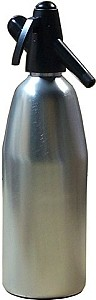 Mr. Fizz Brushed Aluminum Soda Siphon -  1 Liter