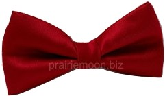 Soda Jerk Bow Tie - Red - Clip