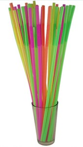 "Bendable Mammoth Neon Straw 17"" (200 pcs)"