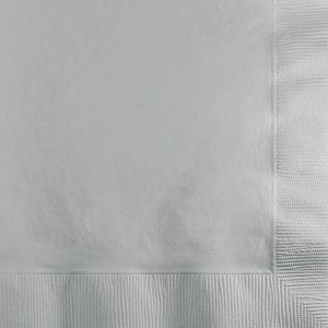 Cocktail Napkin - Silver (pk of 50)