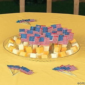 USA Flag Bar Picks (12 dz)