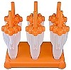 Rocket Freezer Pop Mold - Orange